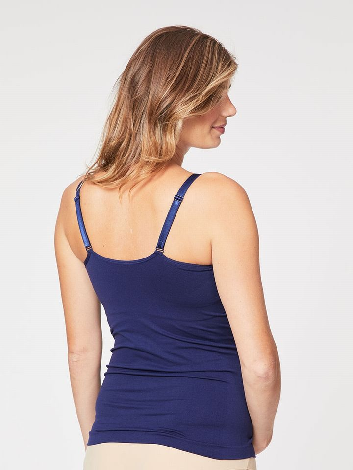 Navy Figure Enhancing Cinder Toffee Camisole - M