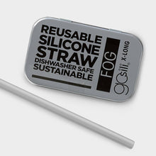 Load image into Gallery viewer, Reusable Silicone Straw XL - Fog