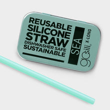Load image into Gallery viewer, Reusable Silicone Straw XL - Sea