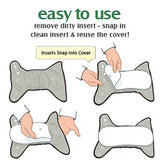 Stay Dry Microfiber Inserts - 3 PK Large