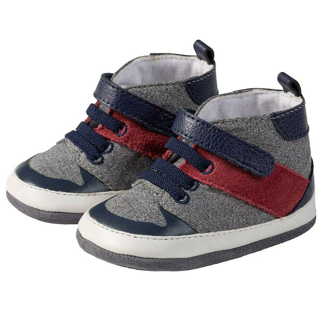 Zachary Navy Soft-Soled Shoes - 9-12 months