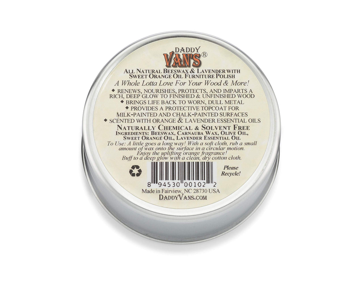 Daddy Van's All Natural Lavender & Sweet Orange Oil Beeswax Furniture Polish