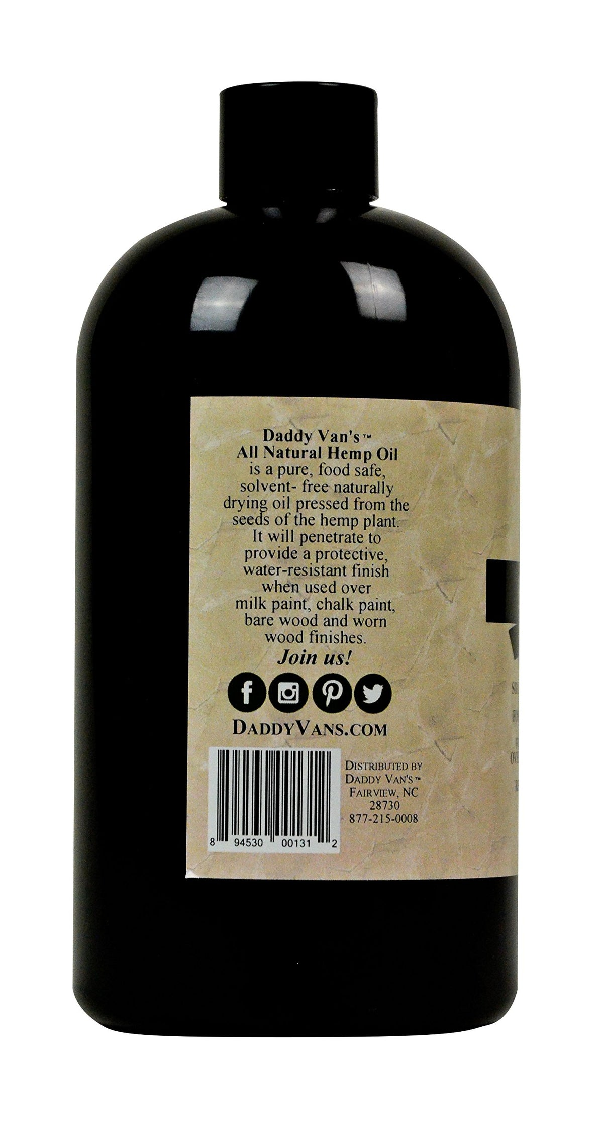 Daddy Van's® All Natural Hemp Oil Food Safe Wood Finish and Restorer (16 oz.)