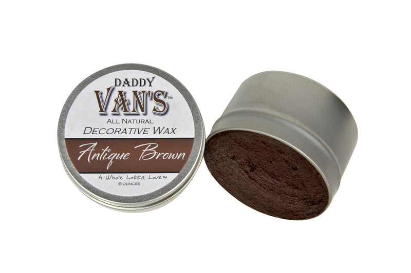 Daddy Van's Antique Brown Decorative Aging Wax for Chalk Paint and Milk Paint
