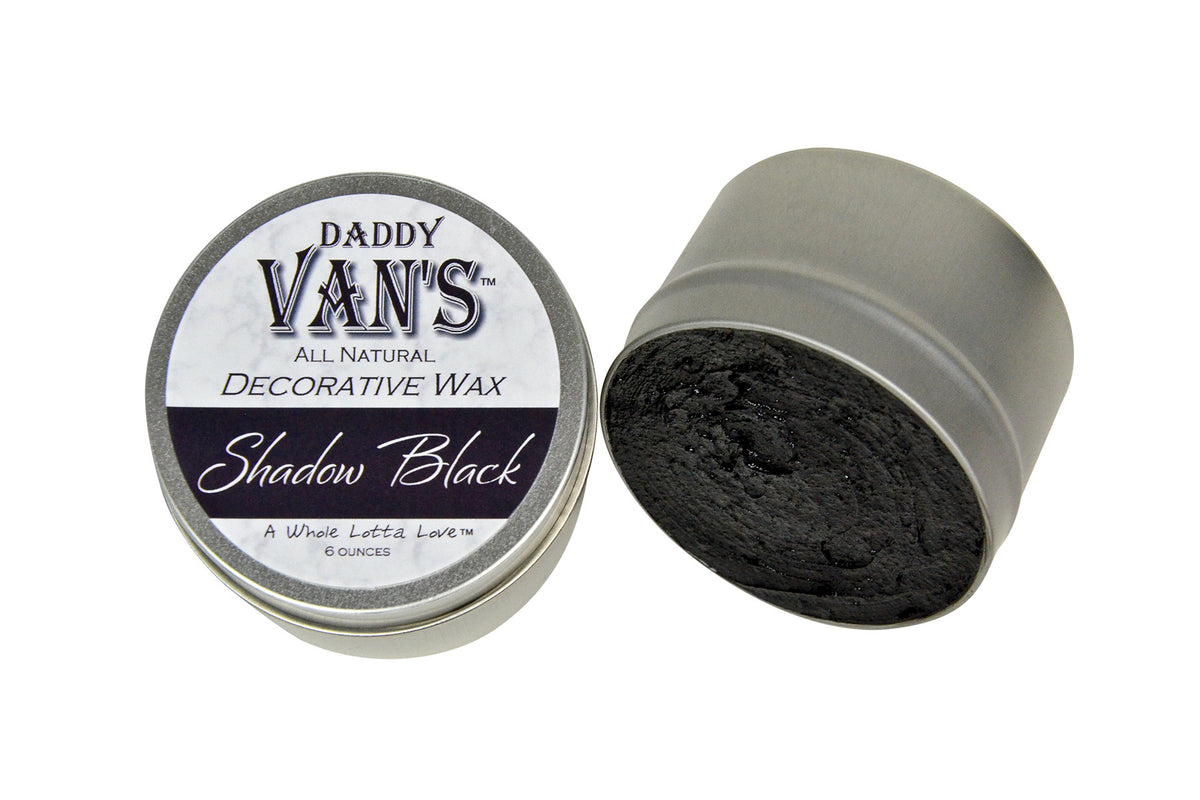 Daddy Van's  Shadow Black Decorative Accenting Wax for Chalk Paint and Milk Paint
