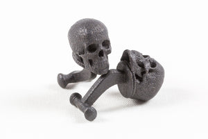 Skull Cufflink Matt Black Steel