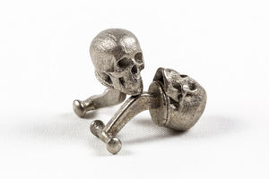Skull Cufflink Nickel Steel