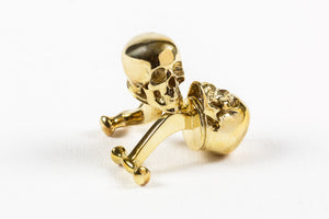Skull Cufflink Polished Brass