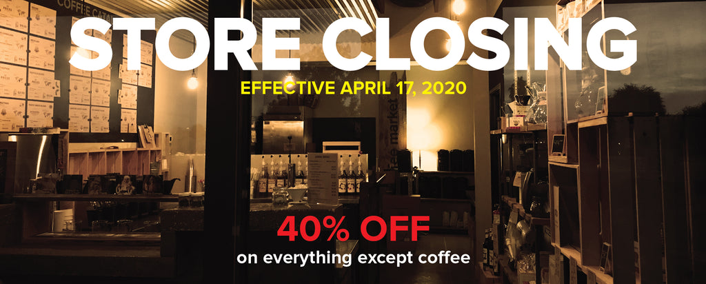 Crate Coffee Market is Closing Effective April 17th