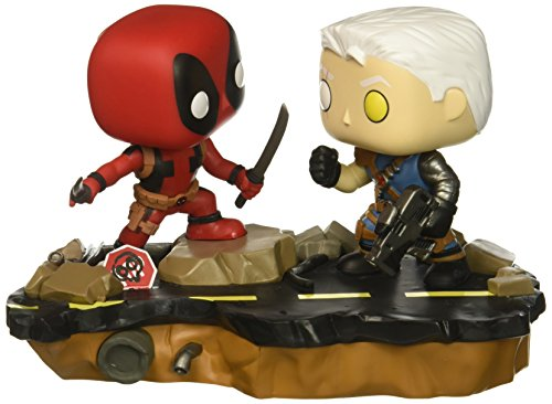 Funko Pop Marvel: Comic Moments-Deadpool Vs. Cable Collectible Figure, Multicolor