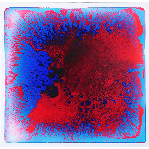 "Tapete - Art3d Liquid Dance Floor Colorful Home Decor Tile, 12"" x 12"" Blue-Red"