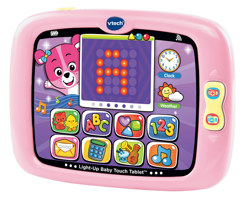 VTech Light-Up Baby Touch Tablet, Pink - Ivanna & Pau - Juguetes, material didactico y productos para niños y el bienestar familiar