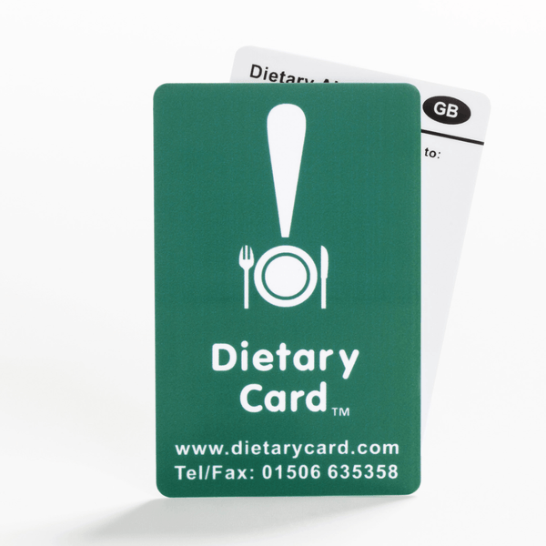 Gluten-free / Coeliac card in English