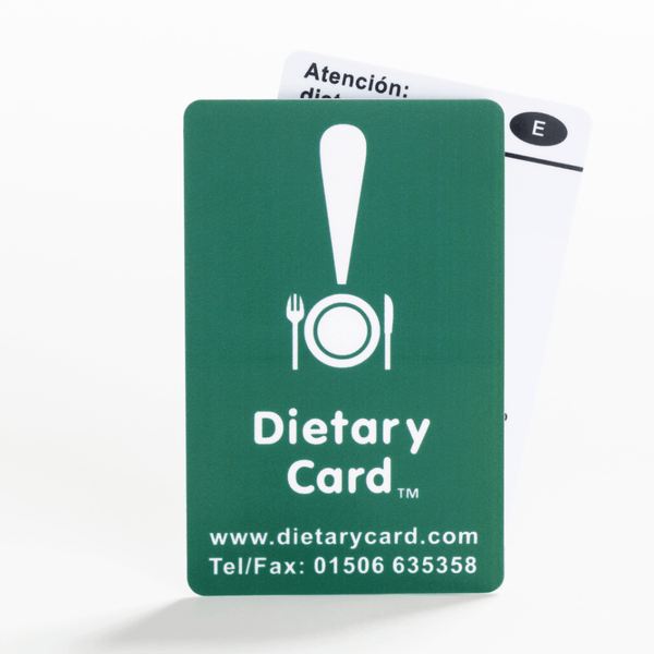 Gluten-free / Coeliac card - choose from 17 languages