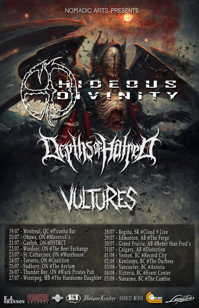 HIDEOUS DIVINITY // DEPTHS OF HATRED // VULTURES