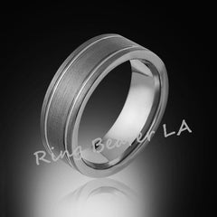 Ring Bearer LA Gray Tungsten Bands