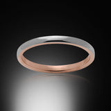 Rose Gold Tungsten Ring - High Polish - 2mm - Engagement Band - Wedding Ring - Ladies Ring - Promise Ring