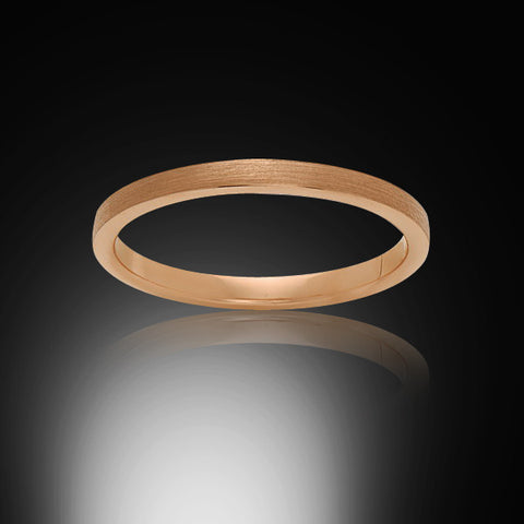 Rose Gold Tungsten Ring - Brushed - 2mm - Engagement Band - Wedding Ring - Ladies Ring - Promise Ring