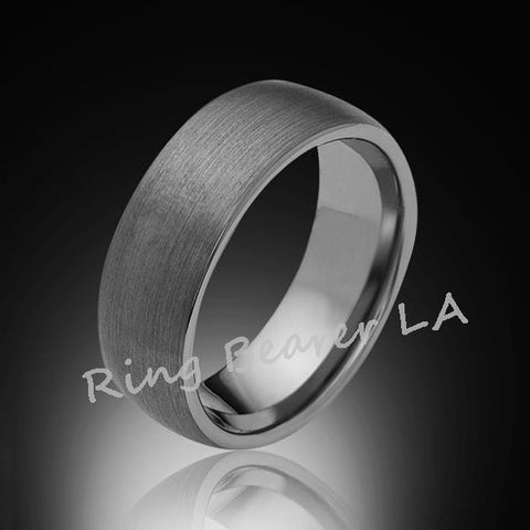 8mm,New,Satin,Gray Brushed,Tungsten Rings,Wedding Band,Matching,Unisex,Comfort Fit - RING BEARER LA