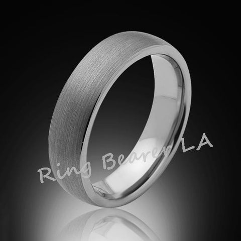 6mm,New,Unique,Satin Brushed Gray,Tungsten Rings,Wedding Band,Matching,Comfort Fit - RING BEARER LA