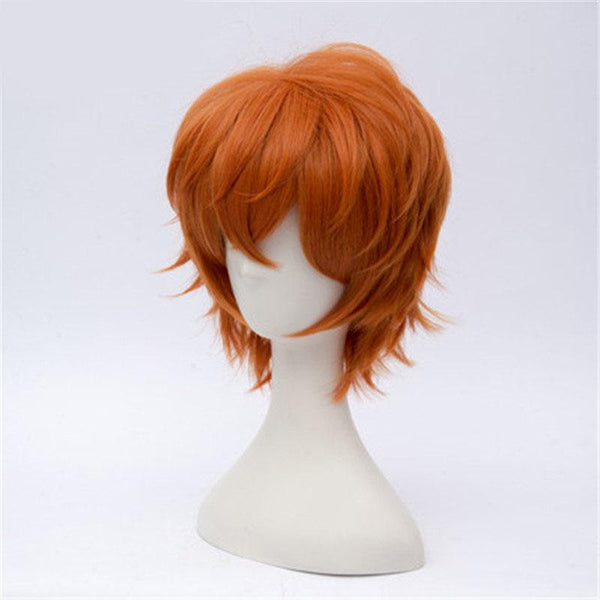 Short Orange Curly Cosplay Wig - High Temperature Fiber
