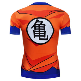 Dragon Ball Z - Goku Short Sleeve Compression T Shirt - AnimePond