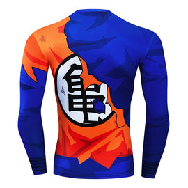 Dragon Ball Z - Goku Shredded  Long Sleeve Compression T Shirt - AnimePond