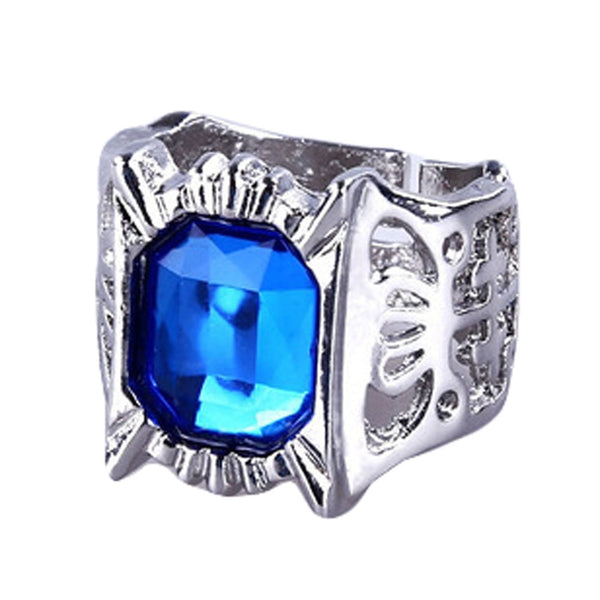 Black Butler Rings - Blue Stone Silver Ring - AnimePond