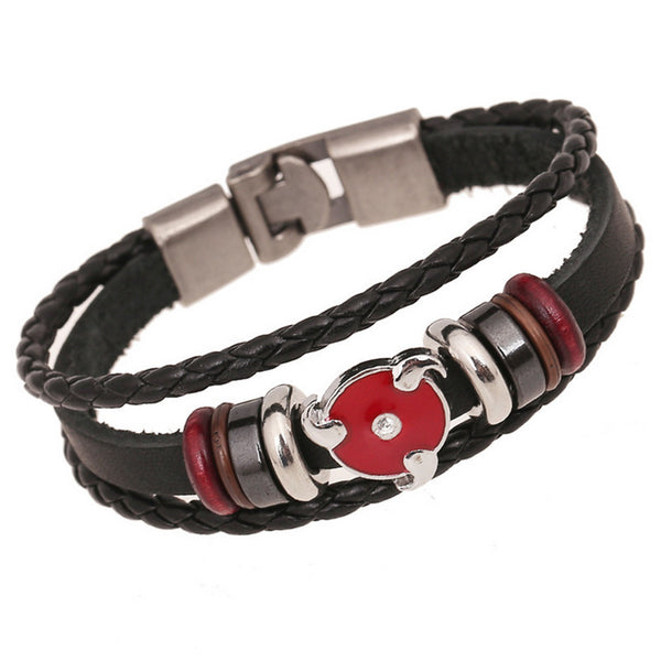 Naruto Sharingan Leather Bracelet - AnimePond