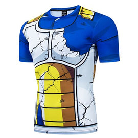 Dragon Ball Z - VEGETA Short Sleeve Compression T Shirt - AnimePond