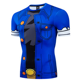 Dragon Ball Z - Red Ribbon Army Short Sleeve Compression T Shirt - AnimePond