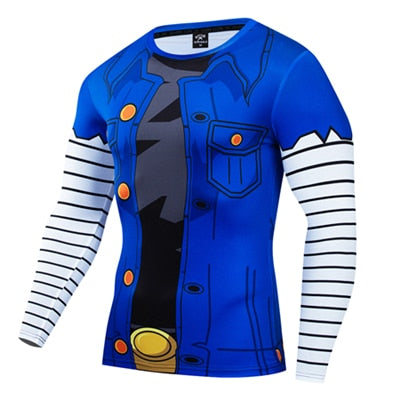 Dragon Ball Z - Red Ribbon Army Long Sleeve Compression Shirt - AnimePond