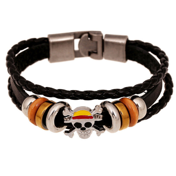 One Piece Bracelet for Men - Skull Logo - AnimePond