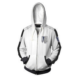 Attack on Titan Wings of Freedom Hoodie - White