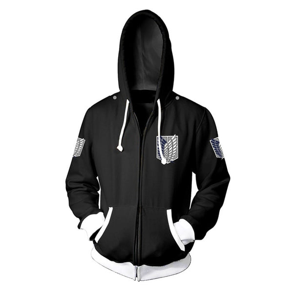 Attack on Titan Wings of Freedom Hoodie - Black