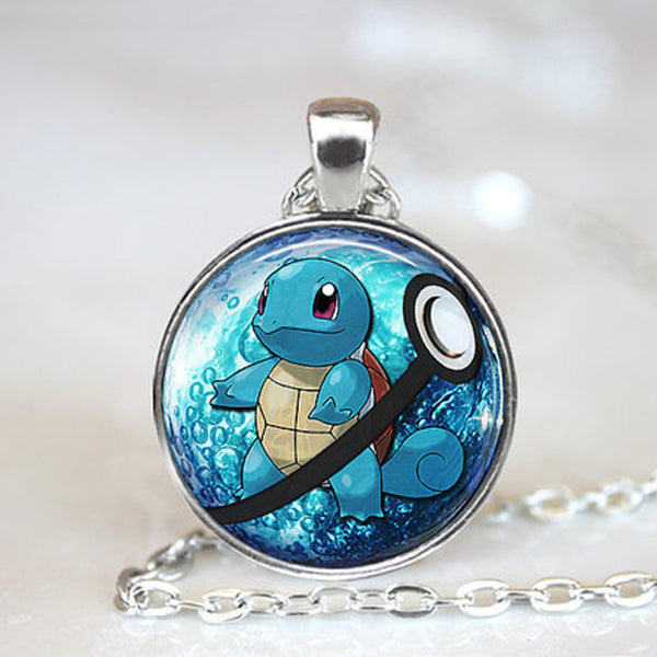 Pokemon Necklace - Squirtle in Pokeball - AnimePond