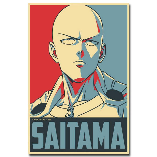 One Punch Man Poster - Saitama - AnimePond
