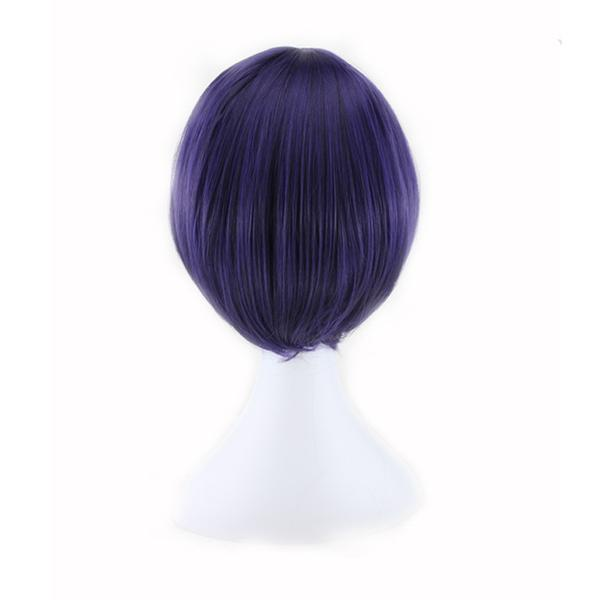 Straight Cosplay Purple Wig - Short Synthetic Hair