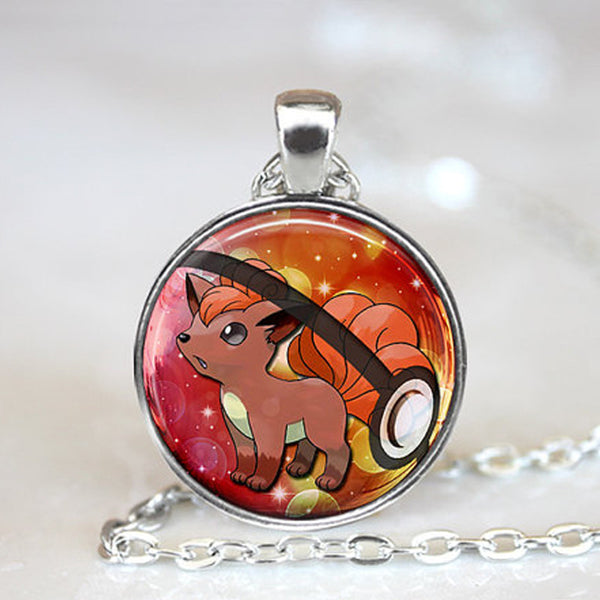 Pokemon Necklace - Vulpix in Pokeball - AnimePond