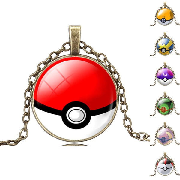 Pokemon Necklace - Pokeball - AnimePond