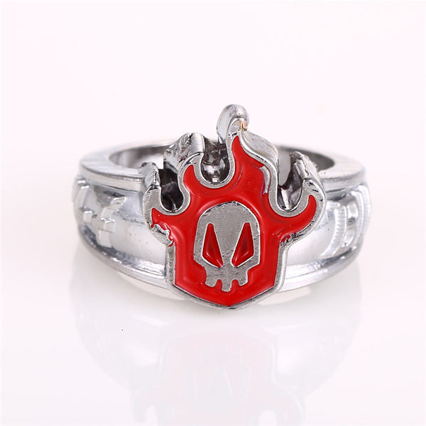 Bleach Rings - Skull Red Flame Logo - AnimePond