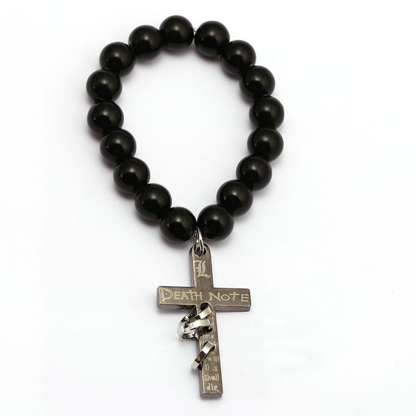 Death Note Bracelet Metal Cross Charm - AnimePond