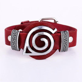 Naruto Bracelet Red & Black - AnimePond