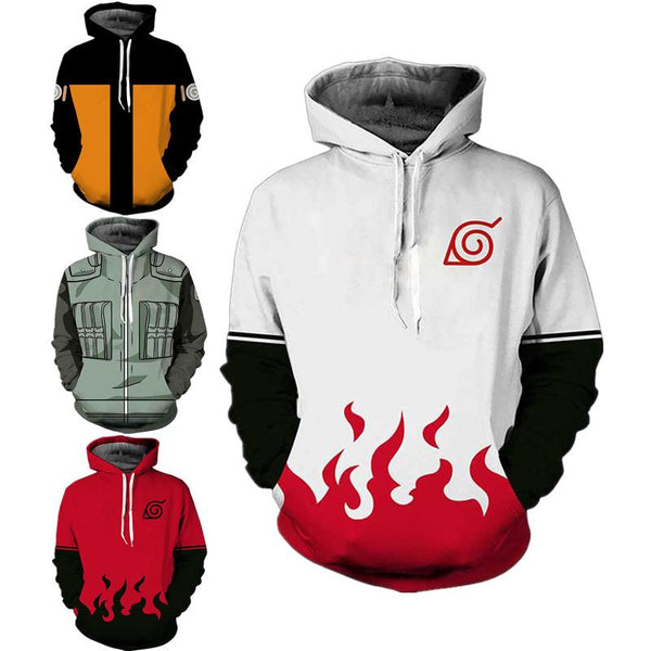 Naruto Long Sleeve Hooded Jacket - AnimePond