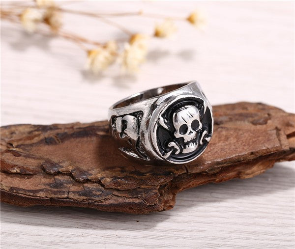 One Piece Rings Silver Plated Pirates Skull - AnimePond - 1