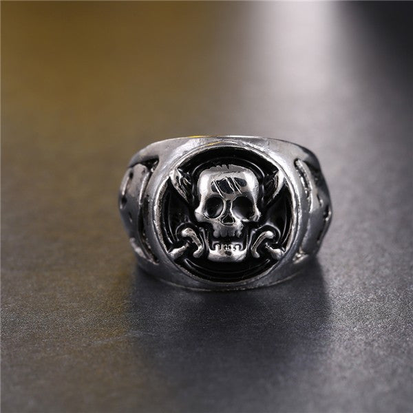 One Piece Rings Silver Plated Pirates Skull - AnimePond
