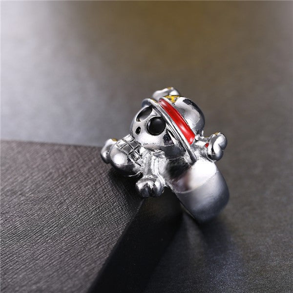 One Piece Ring - Silver Plated Skull Logo - AnimePond - 1