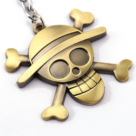 One Piece Luffy Straw Hat Copper Keychain - AnimePond