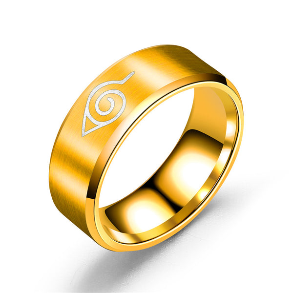 Naruto Rings - Konahoa - Hidden Leaf Village Symbol - AnimePond