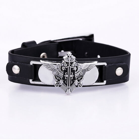 Black Butler Leather Bracelet - AnimePond